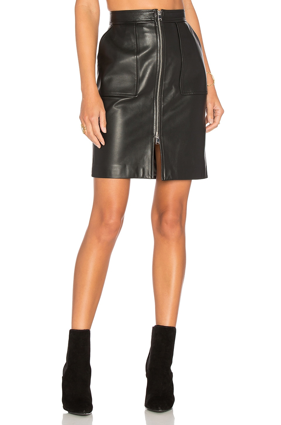 LAMARQUE Amber L Pencil Skirt in Black