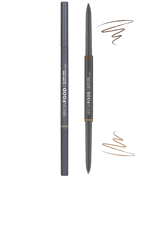 Lashfood Browfood Ultra Fine Brow Pencil Duo in Brunette