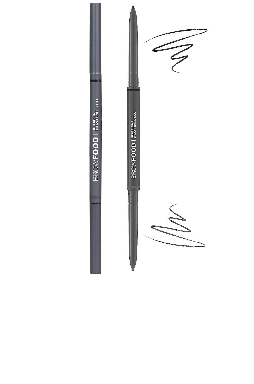 Lashfood Browfood Ultra Fine Brow Pencil Duo in Charcoal