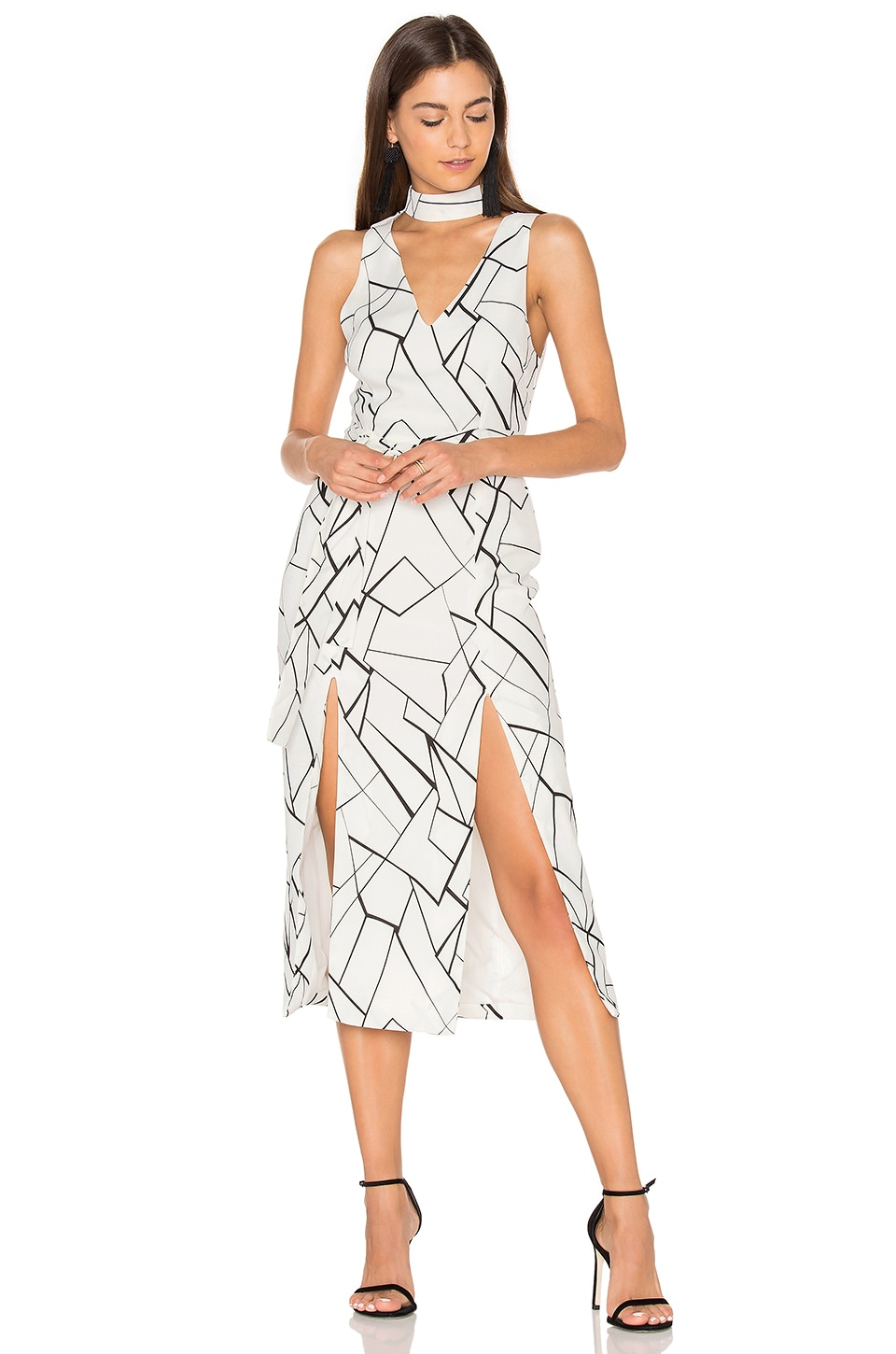 c1c1e660a7 Lavish Alice Monochrome Cracked Midi Dress in Black & White | REVOLVE