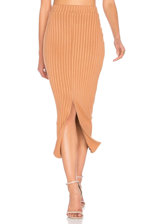 Flounce Hem Midi Skirt by Lavish Alice