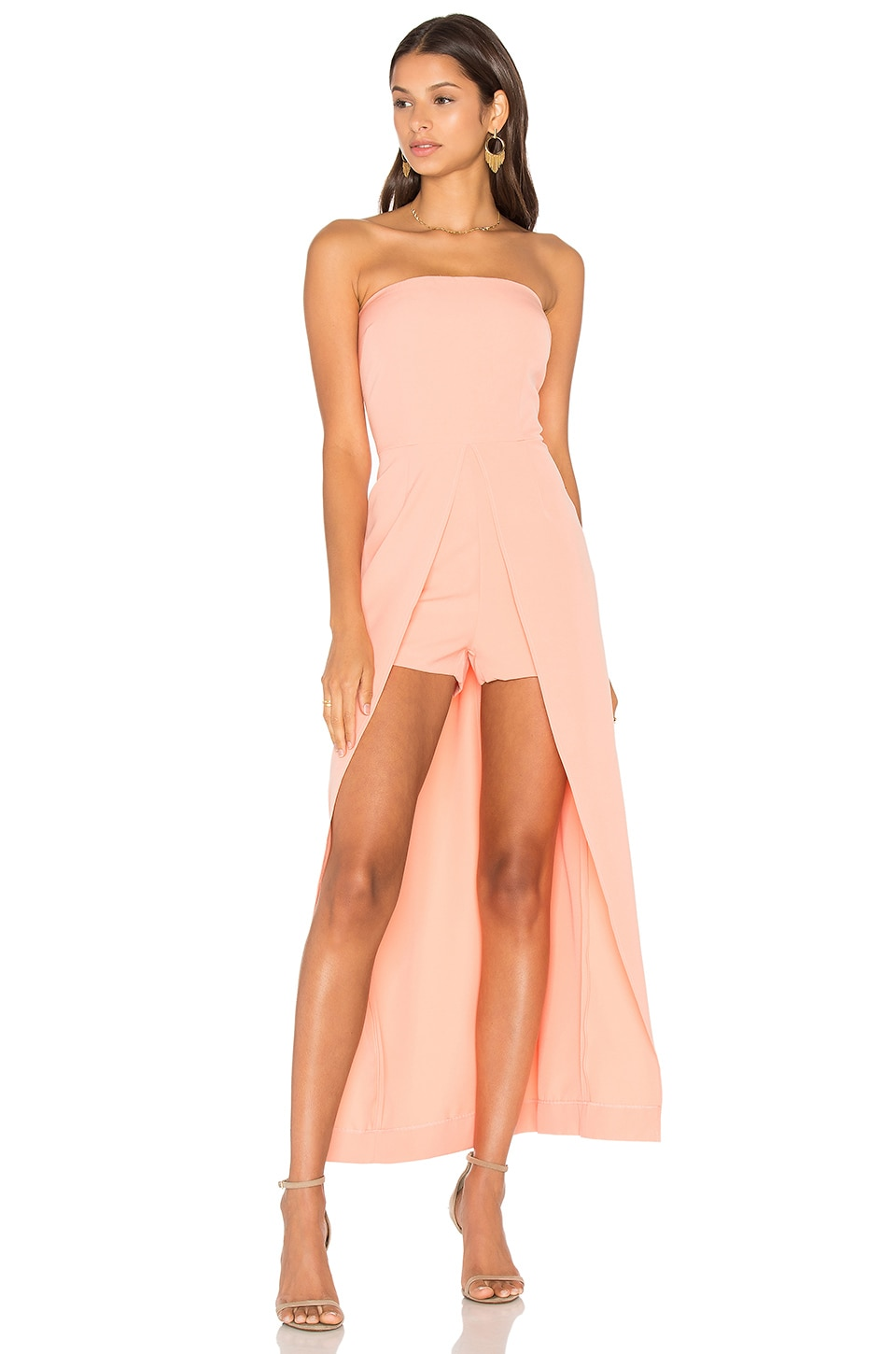 Bandeau Maxi Overlay Playsuit by Lavish Alice