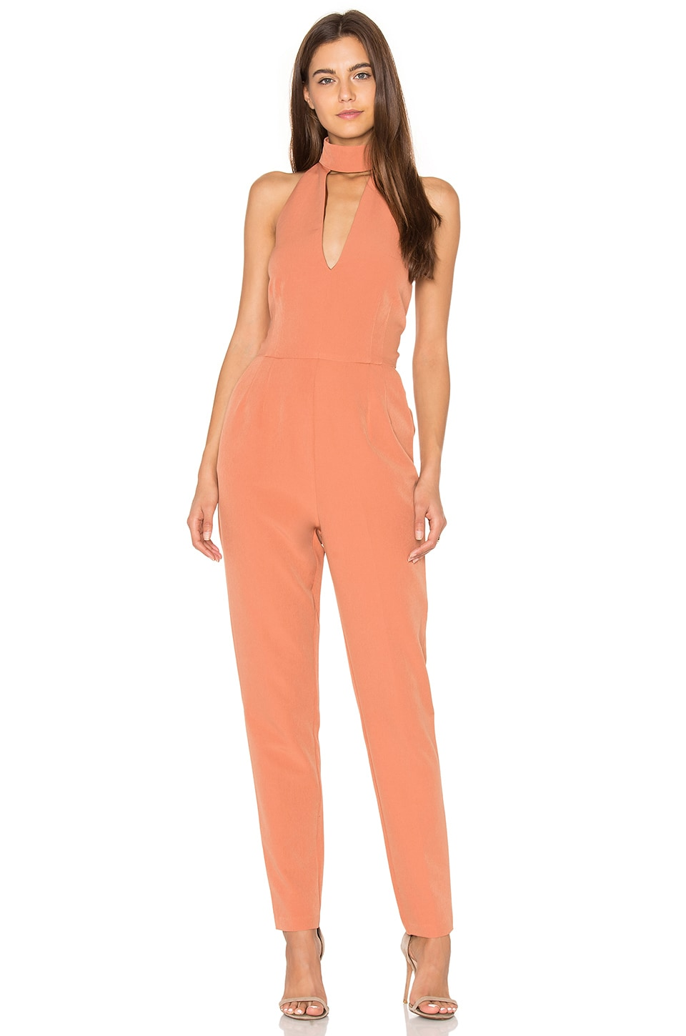 Keyhole High Neck Jumpsuit by Lavish Alice