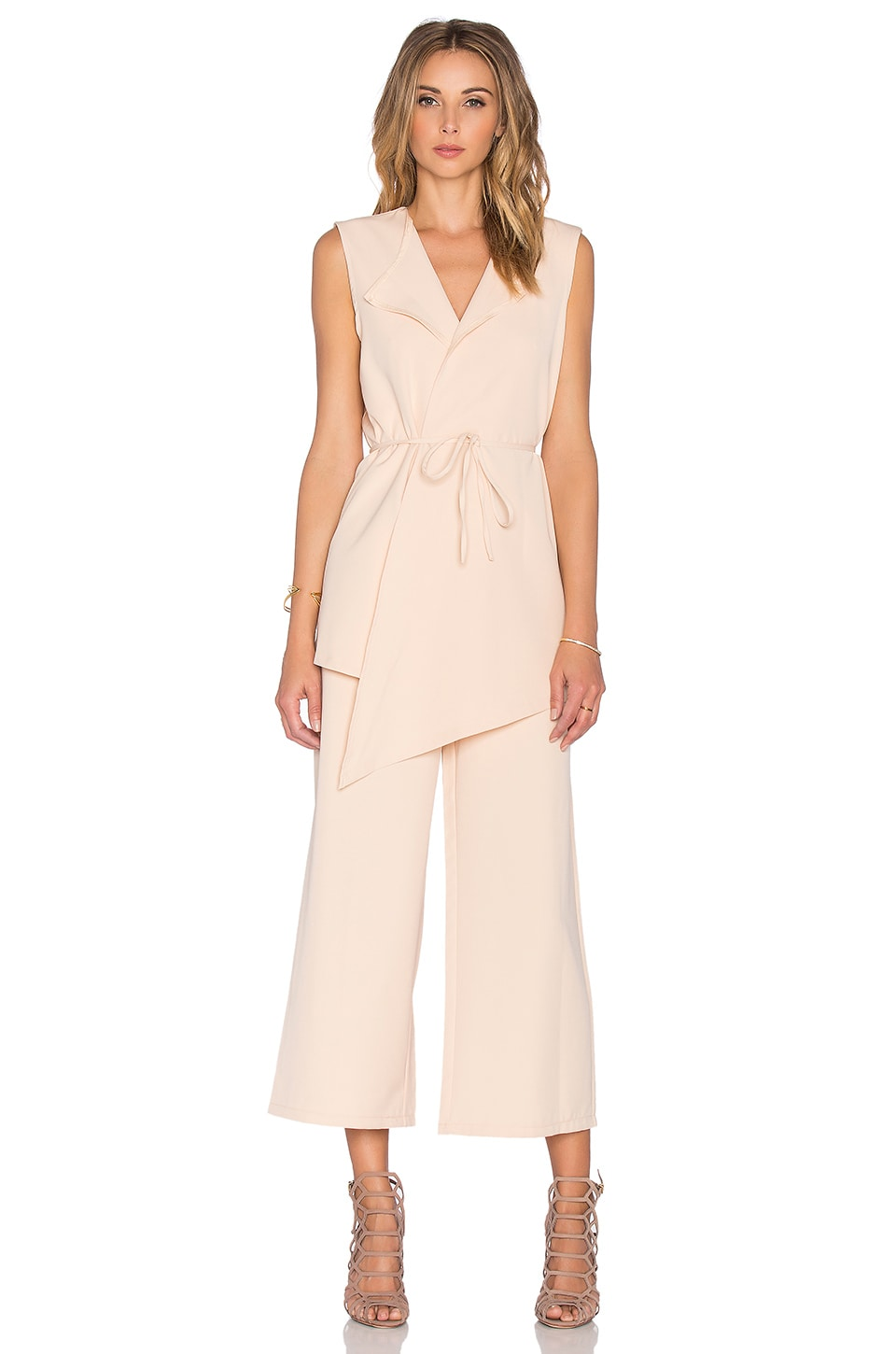 1d9436e01c1 Lavish Alice Culotte Jumpsuit in Nude