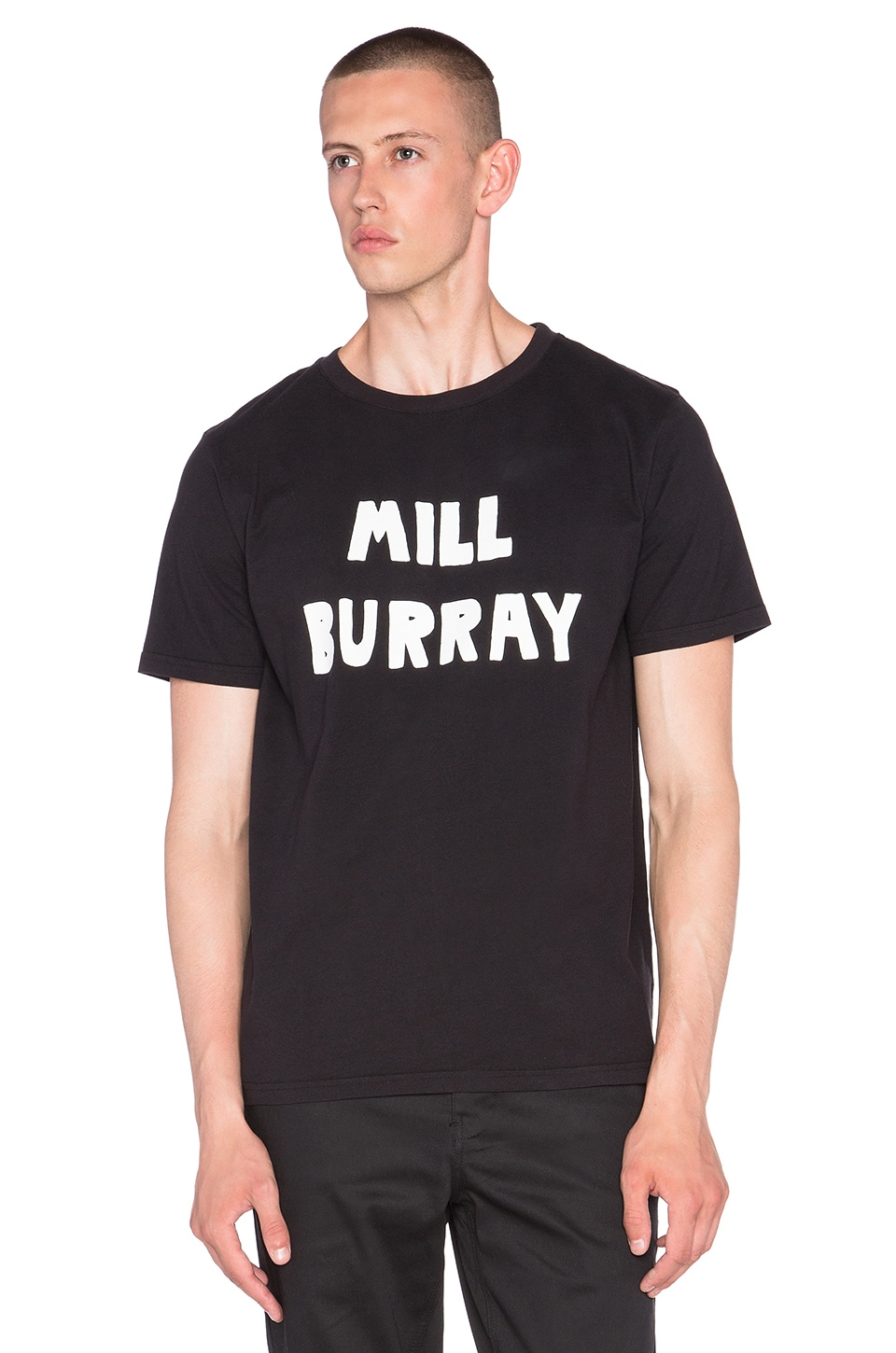 Lazy Oaf Mill Burray Tee in Black