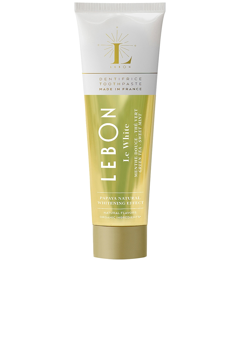 LEBON Travel Le White Toothpaste in Sweet Mint & Green Tea
