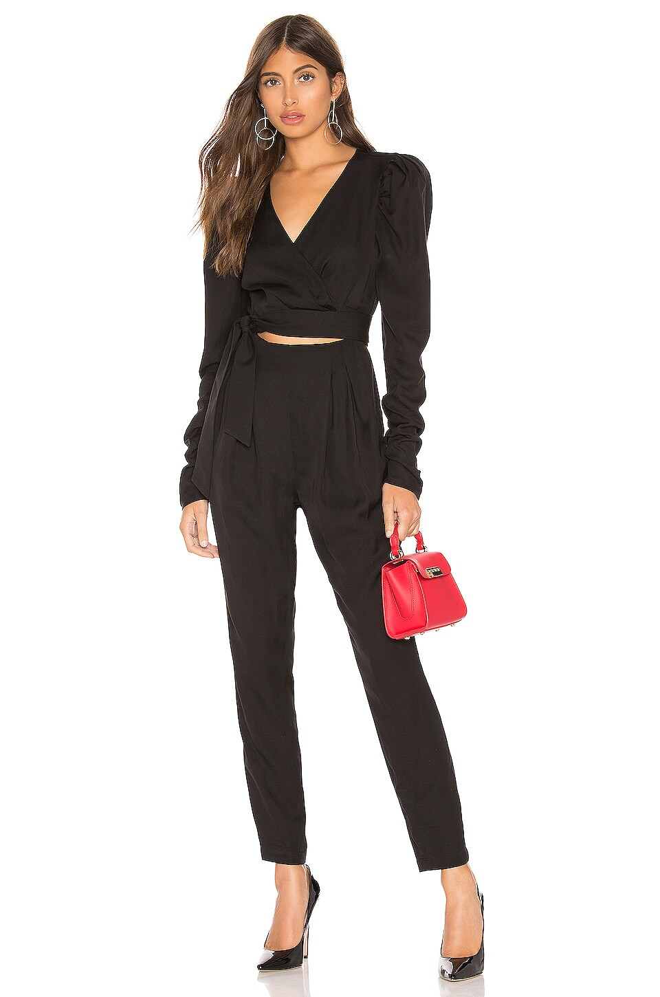 L'Academie The Mary Jumpsuit in Black
