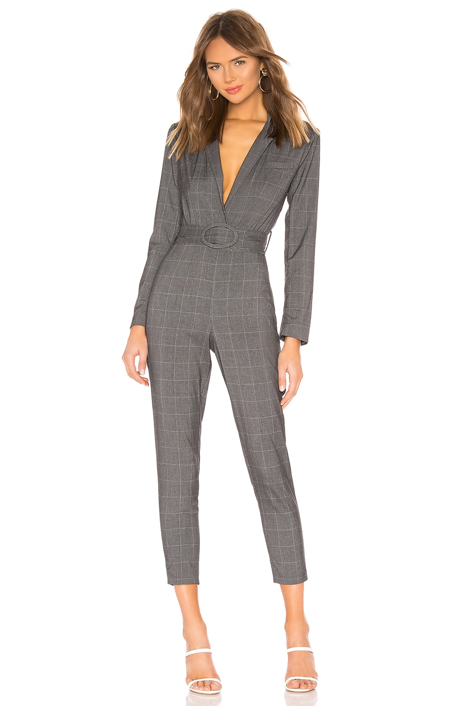 L'Academie the Lily Jumpsuit in Grey