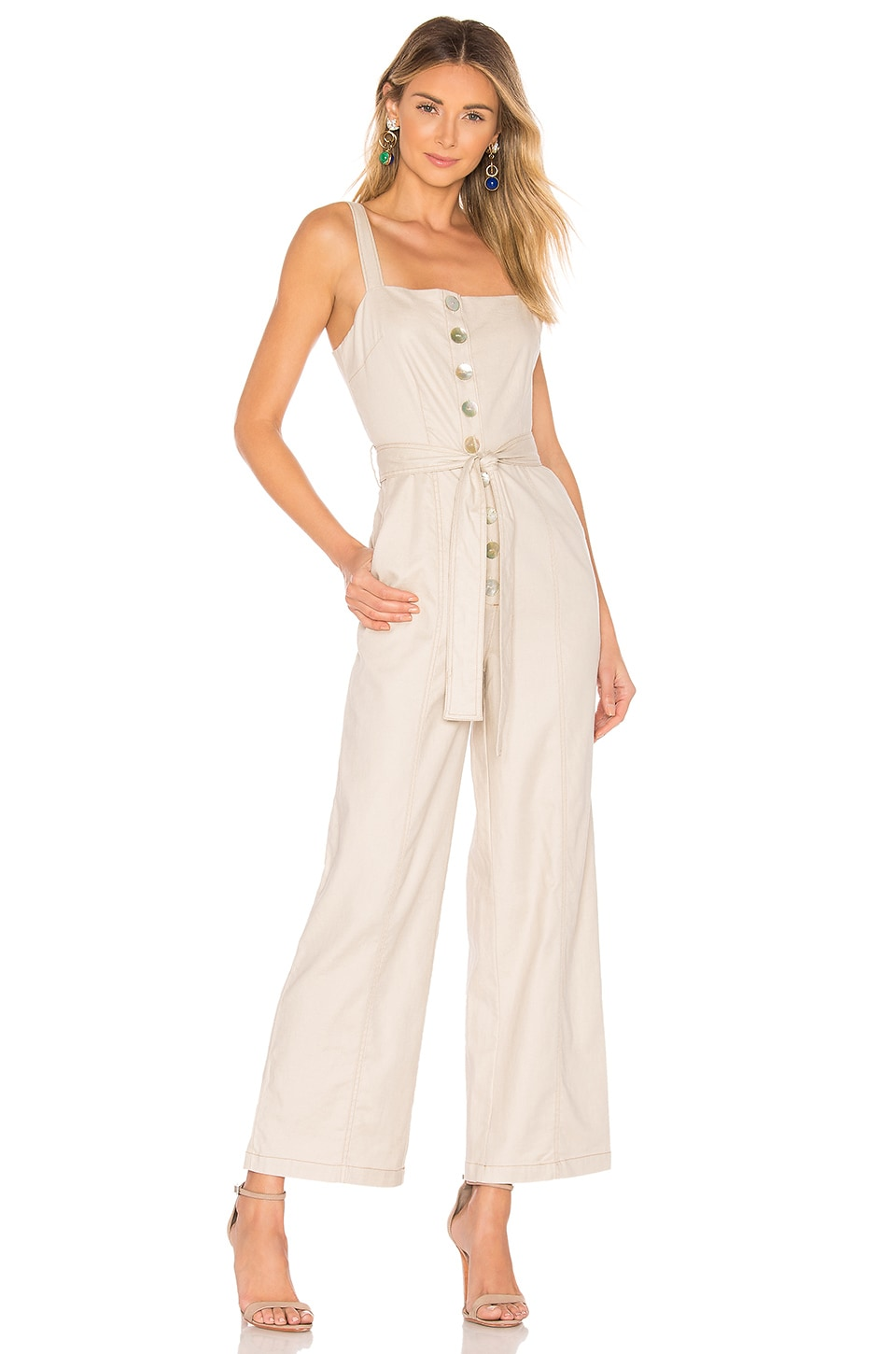 L'Academie The Evelyn Jumpsuit in Oatmeal
