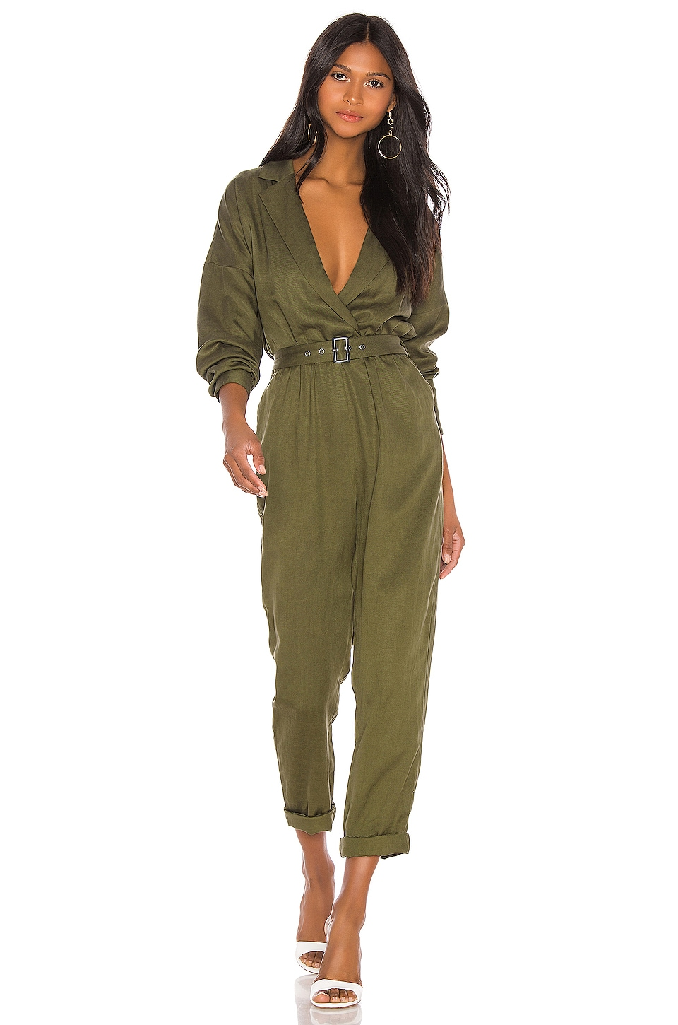 L'Academie Reed Jumpsuit in Green
