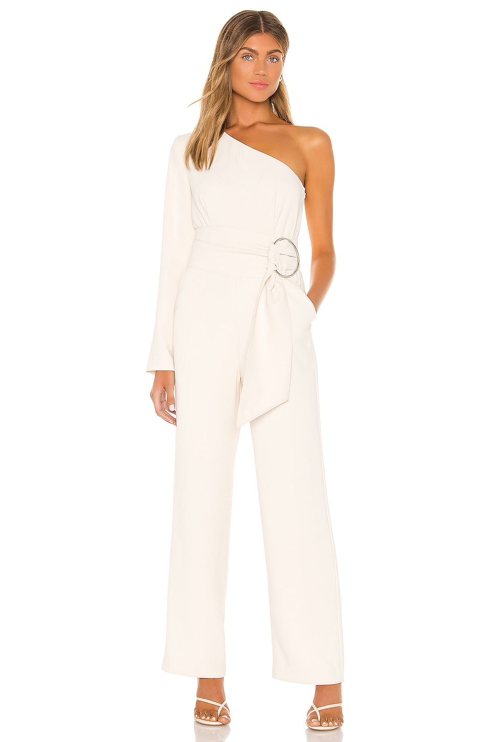 L'Academie The Emmanuelle Jumpsuit in Ivory