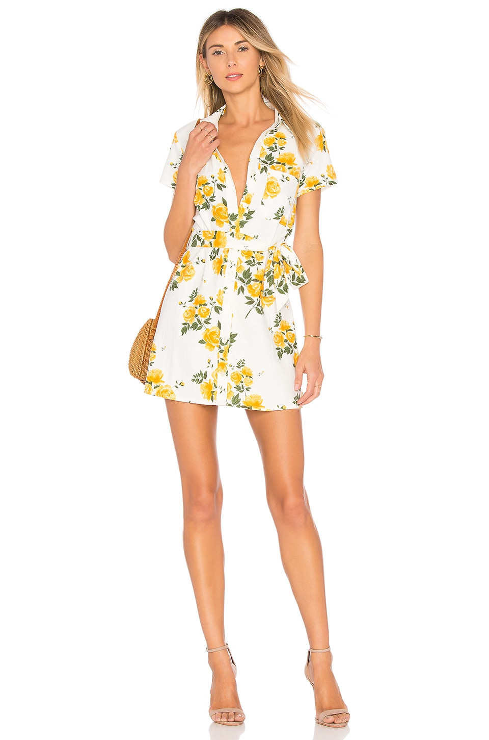 L'Academie The Kendra Dress in Yellow Rose