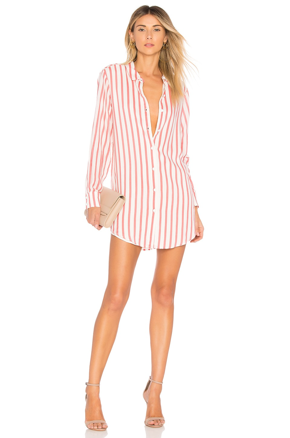 L'Academie Nicole Dress in Red Stripe