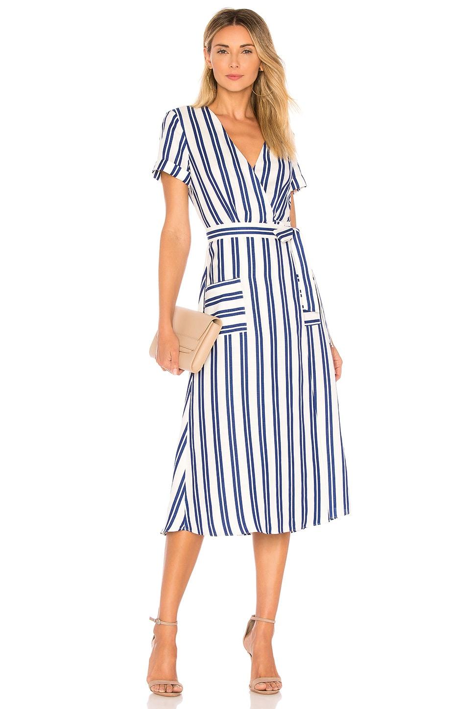 L'Academie Tuscy Dress in Ocean Stripe