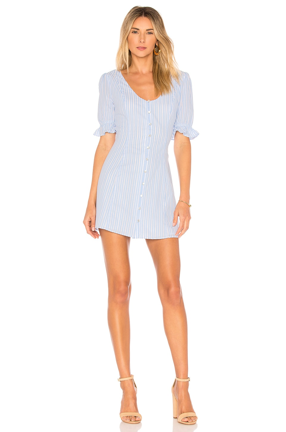 L'Academie The Belize Dress in Sky Stripe