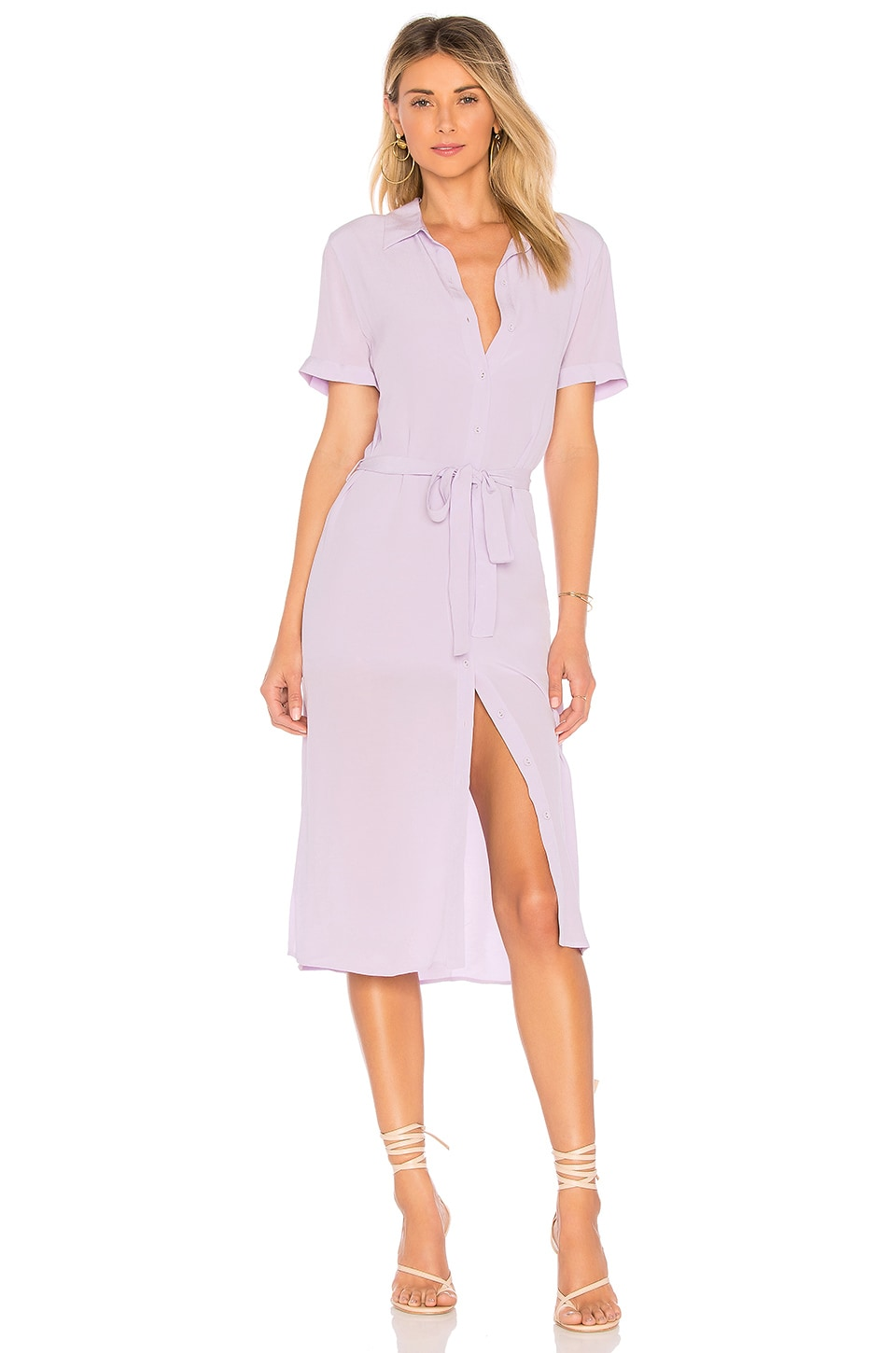L'Academie The Shirt Dress in Lilac
