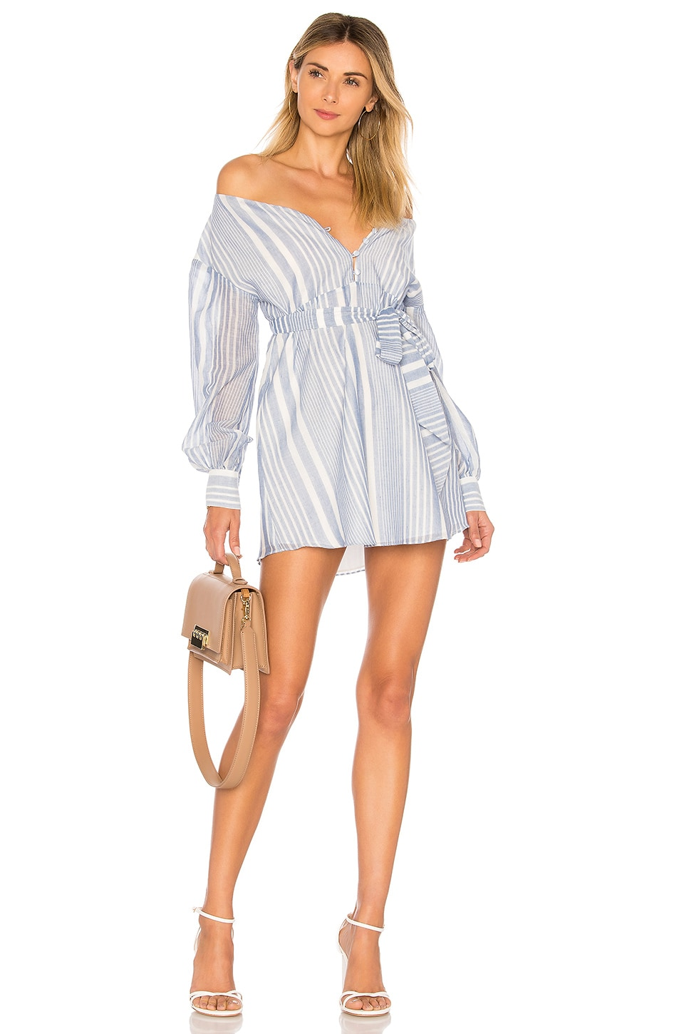 L'Academie The Frida Dress in Blue Stripe