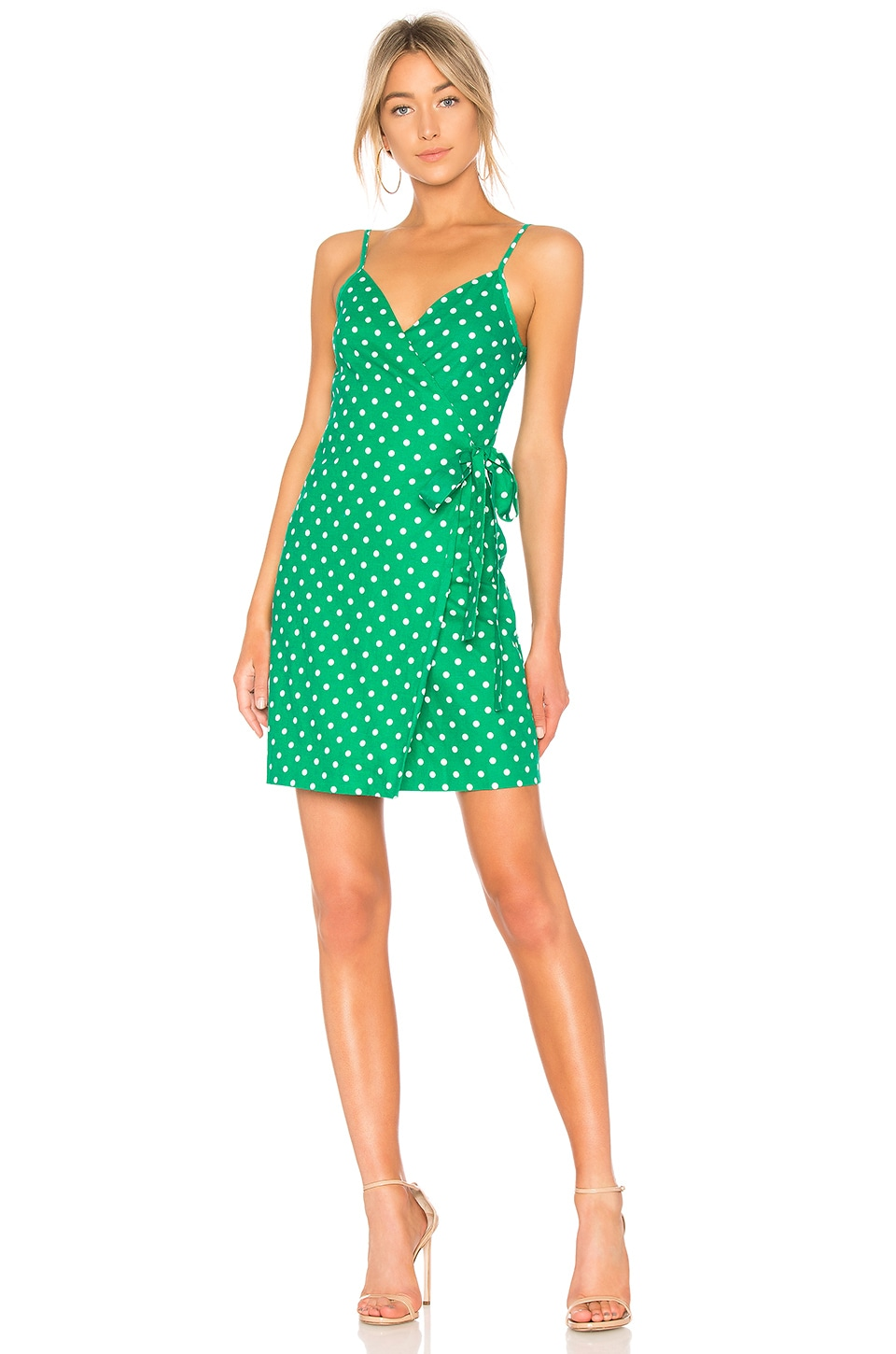 L'Academie The Martin Dress in Green Dot | REVOLVE