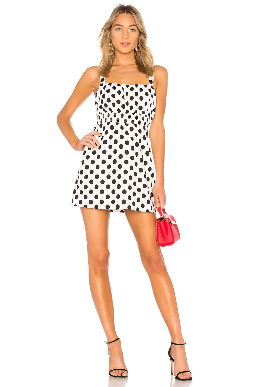 L'Academie The Cruz Mini Dress in Black White Dot