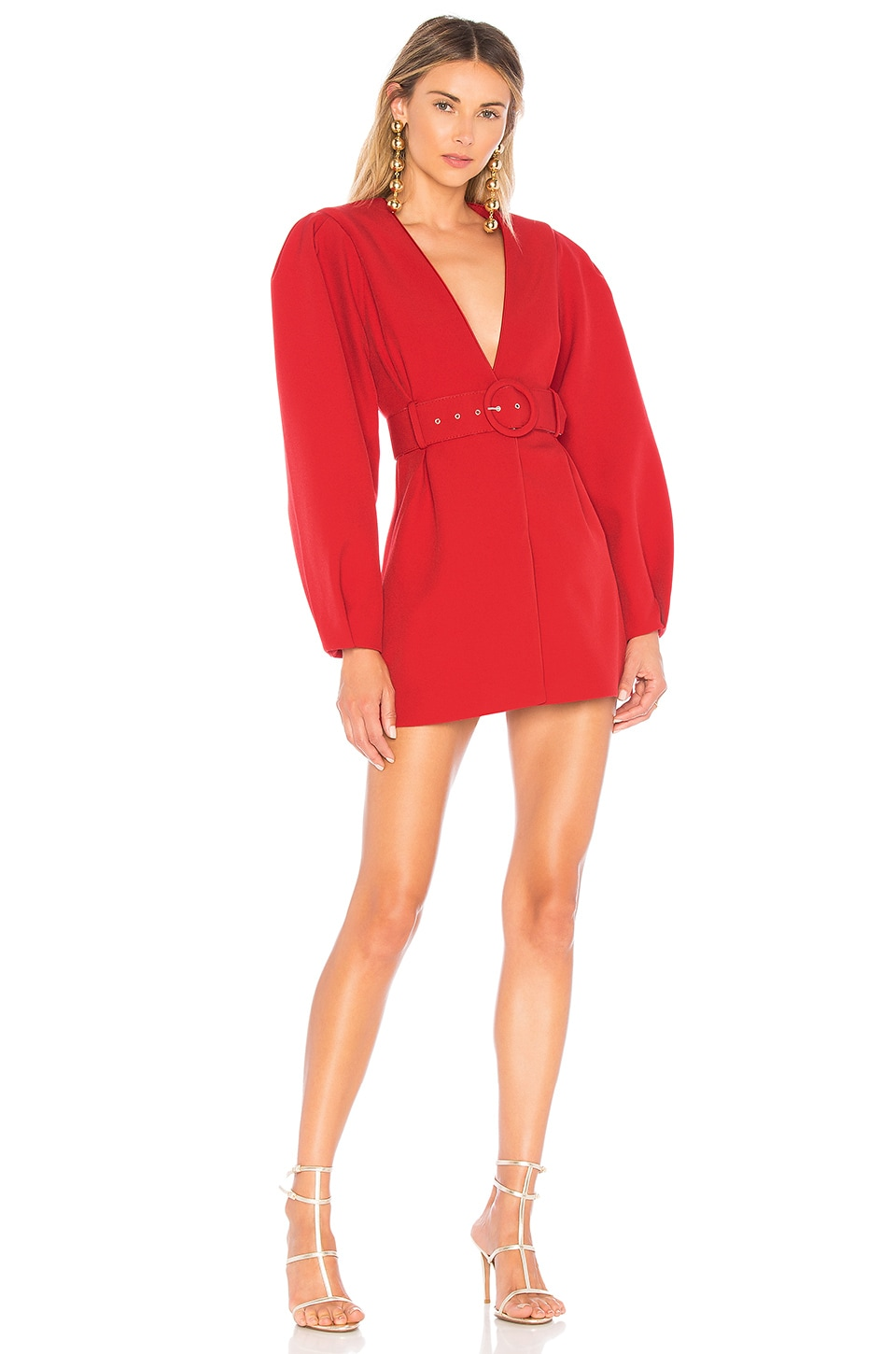 L'Academie The Ambre Dress in Scarlet Red