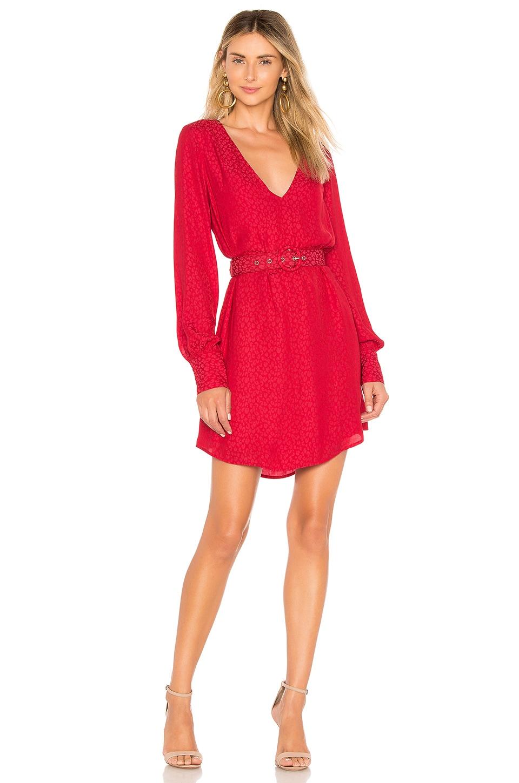 L'Academie The Fiene Mini Dress in Lava Red