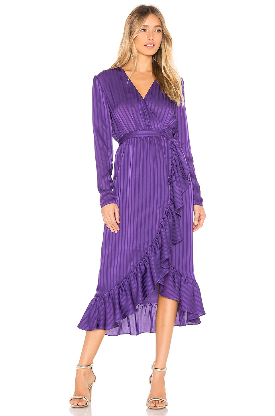L'Academie The Don Midi Dress in Violet Indigo