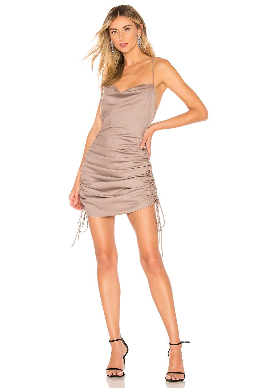 L'Academie The Heidi Mini Dress in Tan
