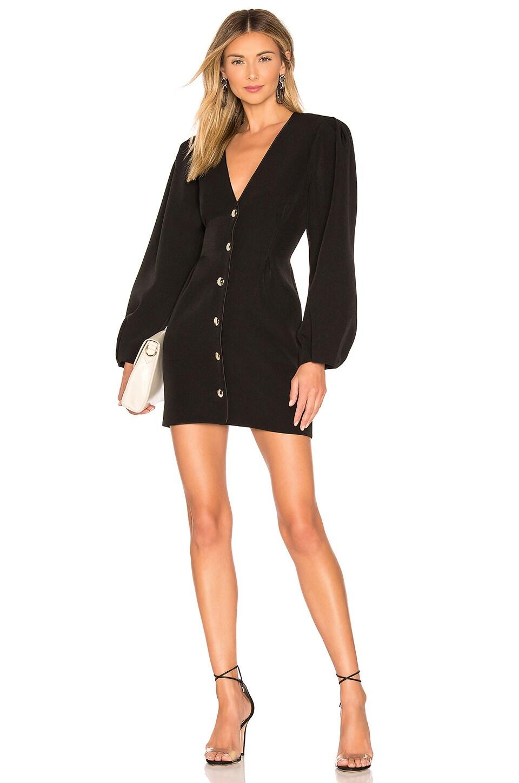 L'Academie The Claudia Mini Dress in Black