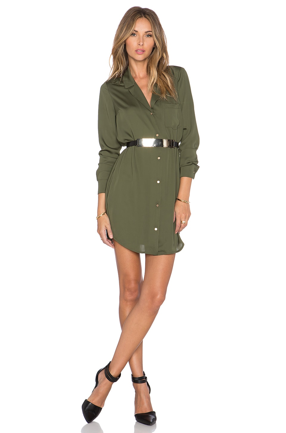 L'Academie The Tunic Dress in Army
