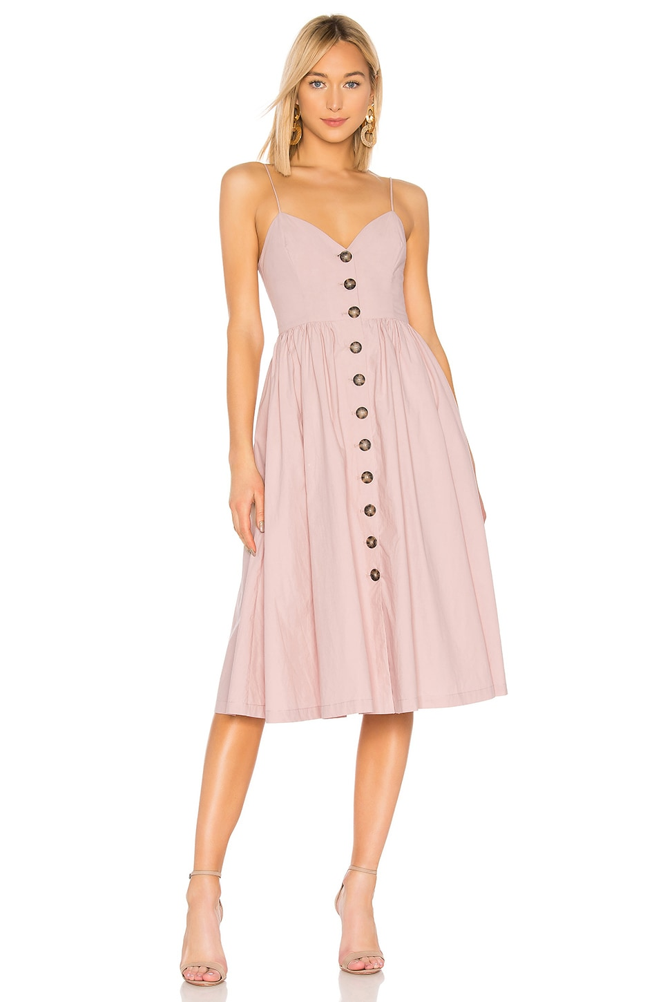 L'Academie The Seraphina Midi Dress in Mauve