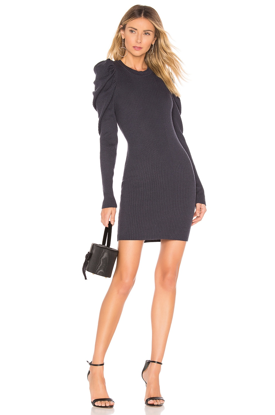 L'Academie Farrah Sweater Dress in Dark Blue