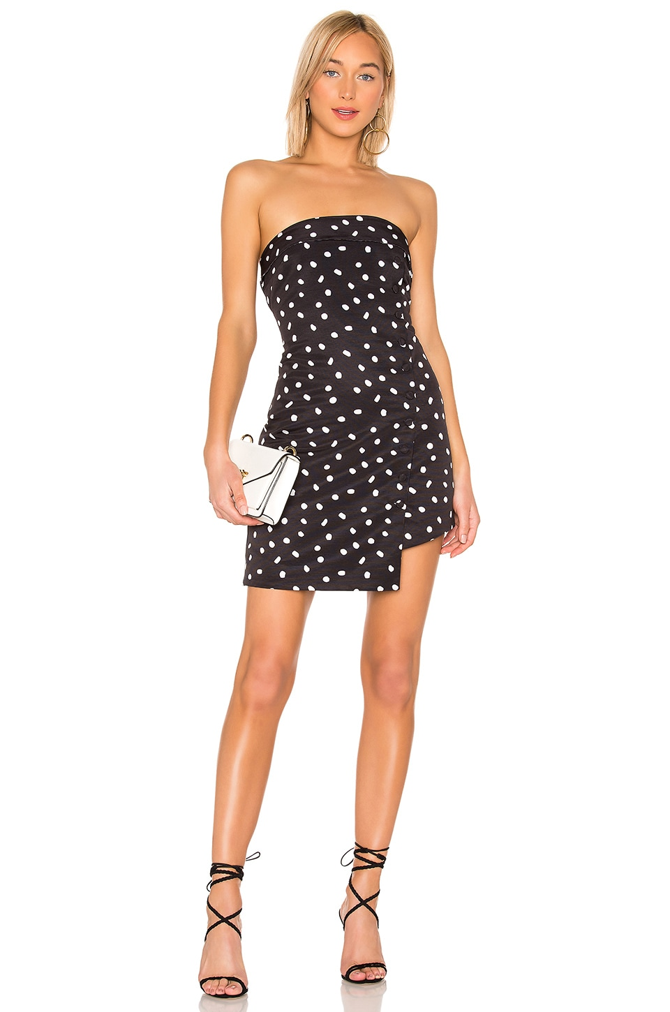L'Academie Cute As A Button Dress in Black