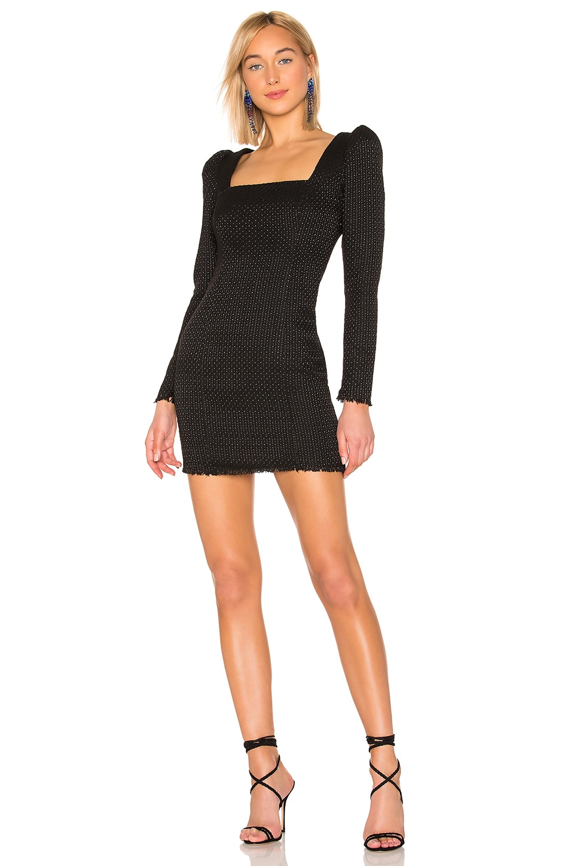 L'Academie The Estelle Mini Dress in Black