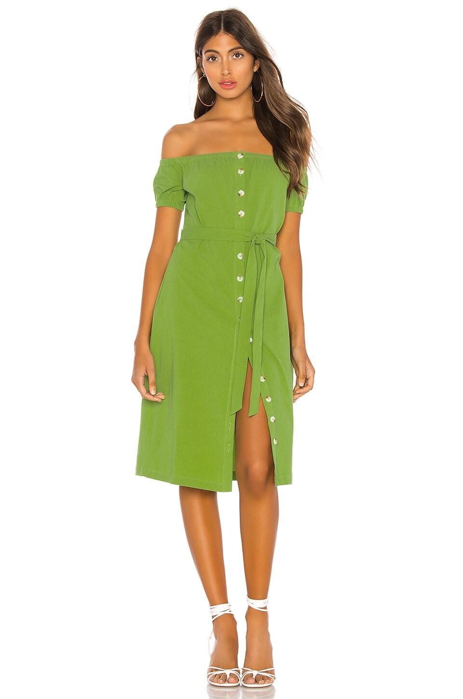 L'Academie The Callao Midi Dress in Moss