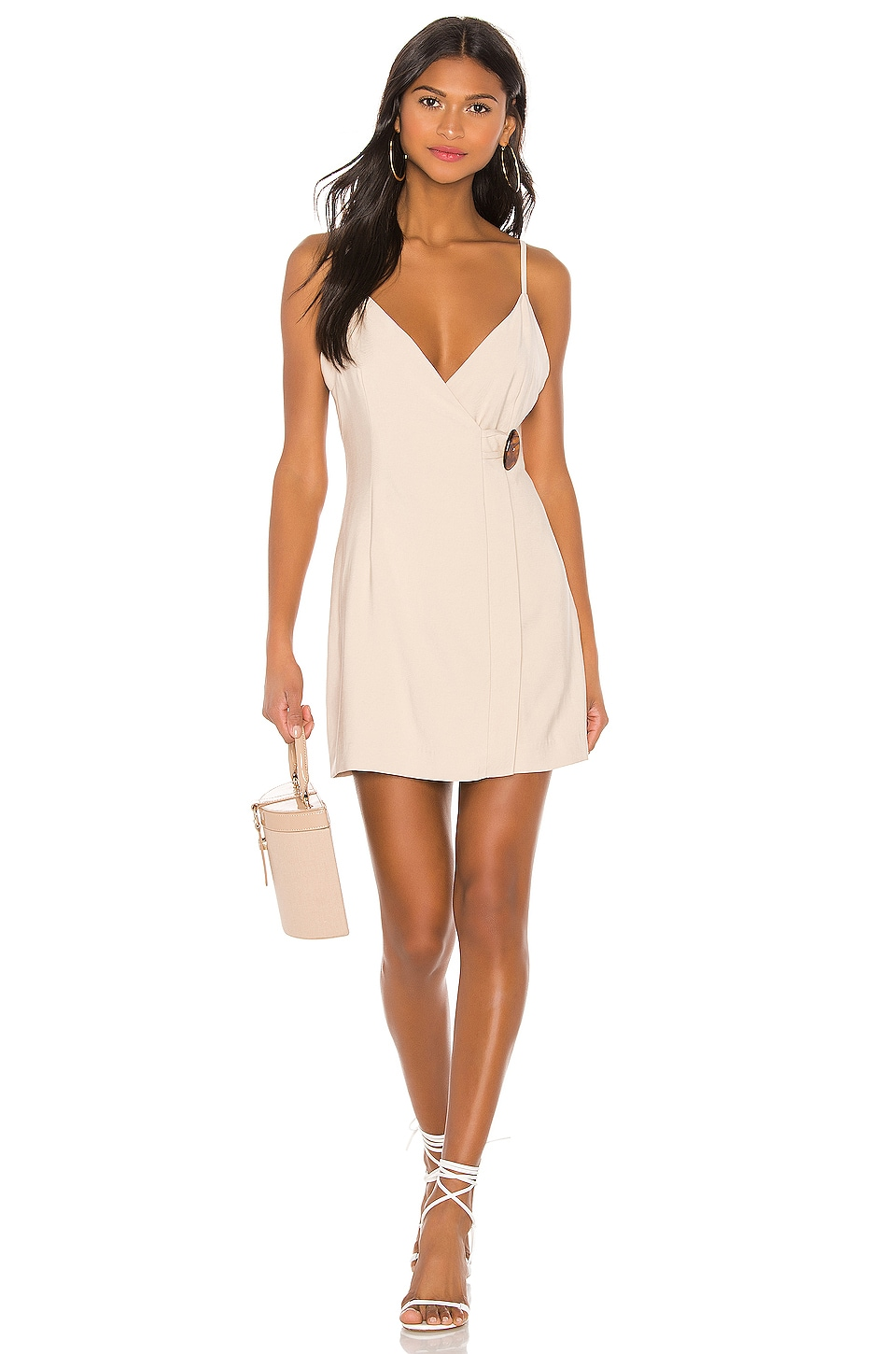 L'Academie The Brigitte Mini Dress in Sand