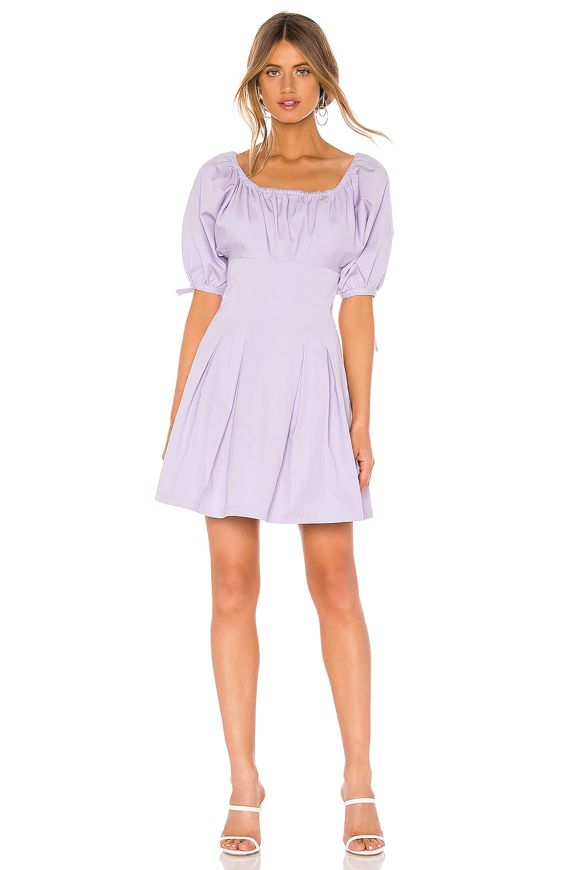 L'Academie The Andrea Mini Dress in Lavender