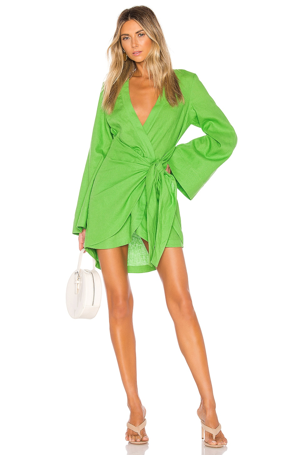 L'Academie The Janeiro Mini Dress in Lime