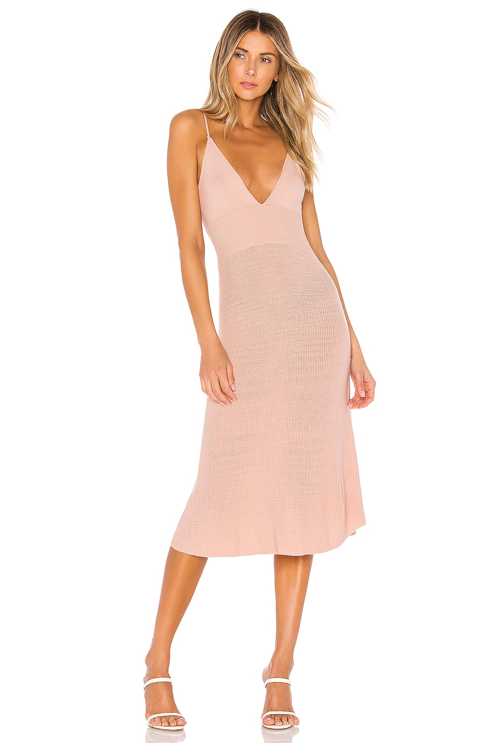 L'Academie Hally Dress in Cool Peach