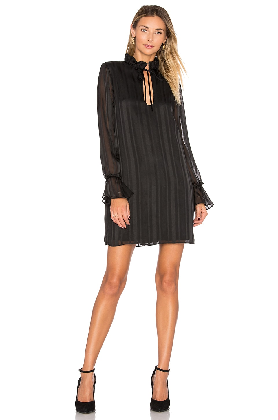 The 70s Ruffle Sleeve Dress