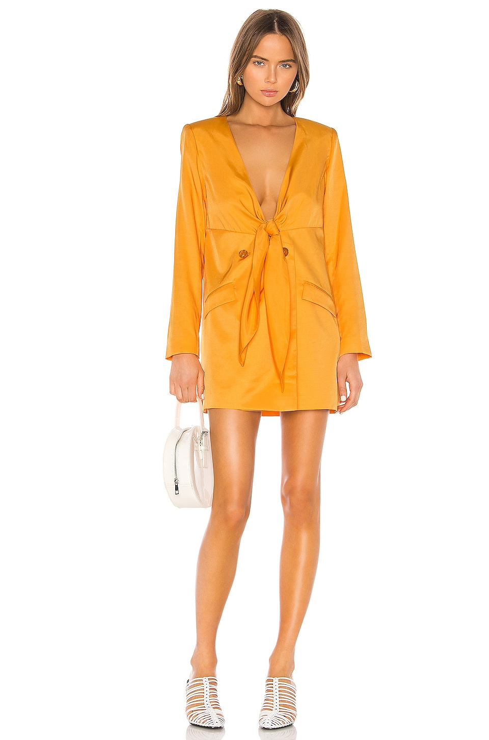 L'Academie The Camille Mini Dress in Orange