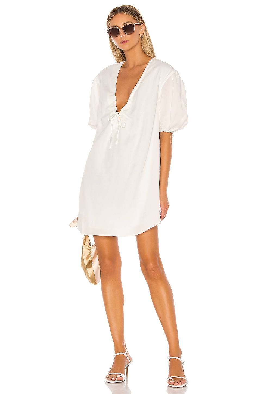 L'Academie The Amaya Mini Dress in White