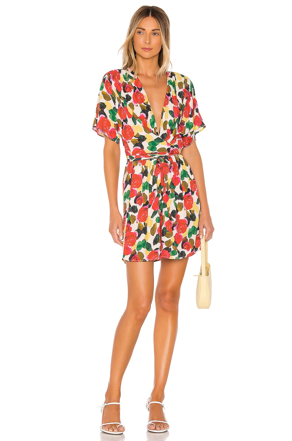 L'Academie The Ines Mini Dress in Watercolor Floral