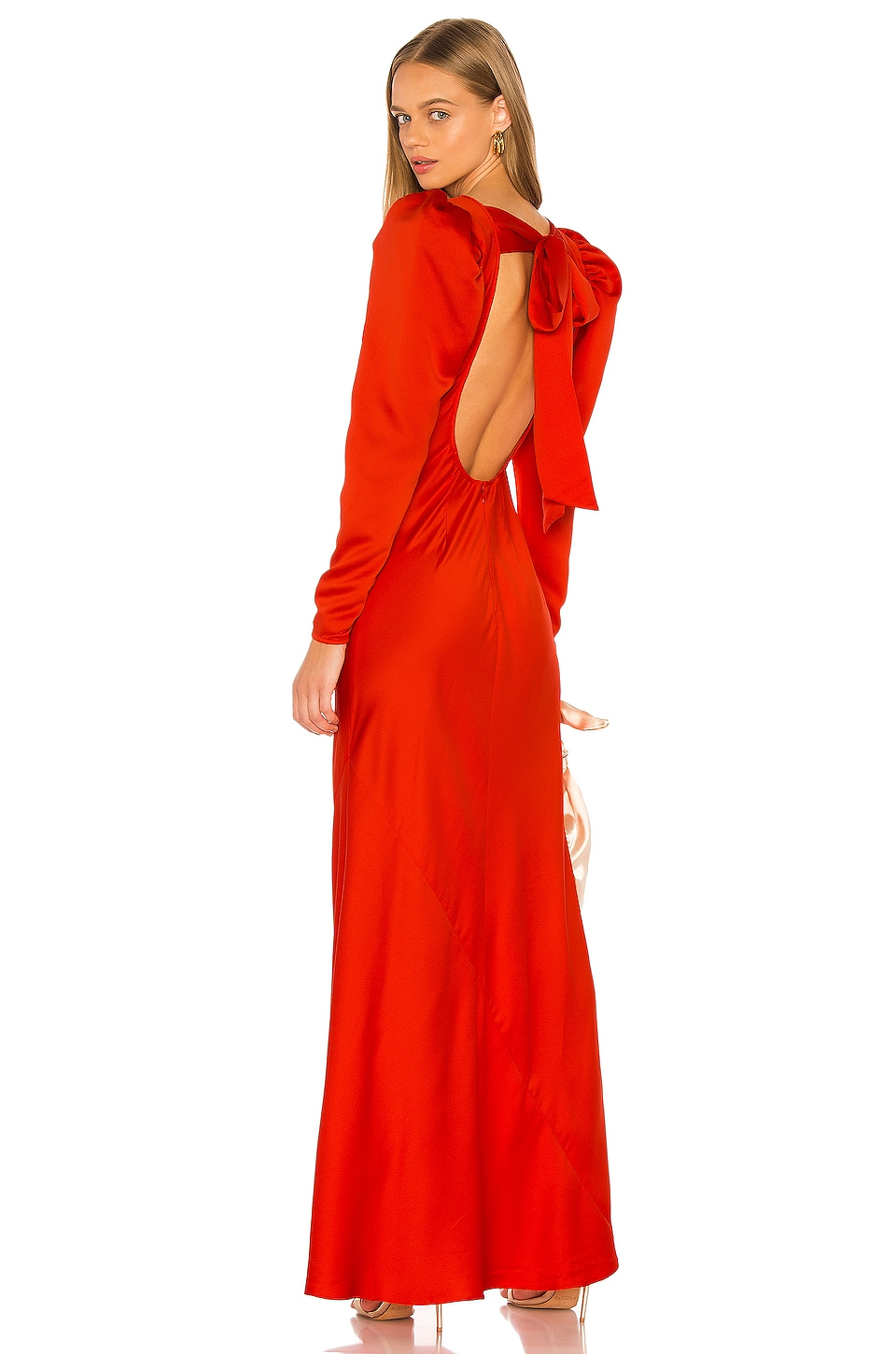 L'Academie The Joelene Gown in Fiery Red
