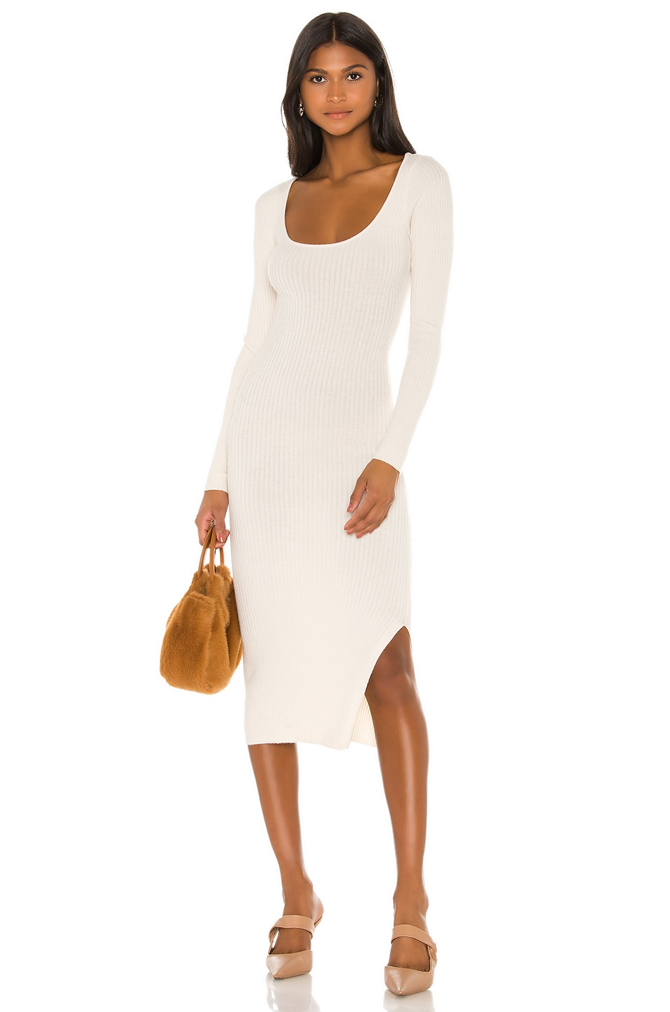 L'Academie Nessa Sweater Dress in Cream