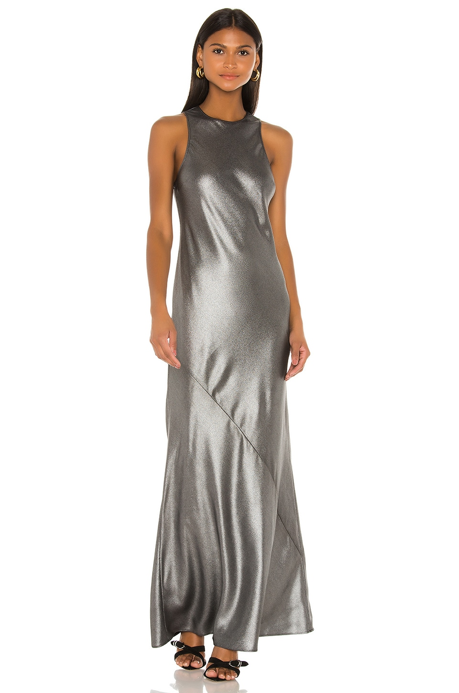 L'Academie The Chimene Maxi Dress in Silver