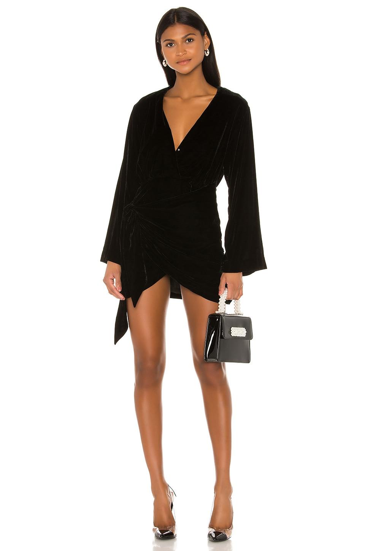 L'Academie The Risette Mini Dress in Black