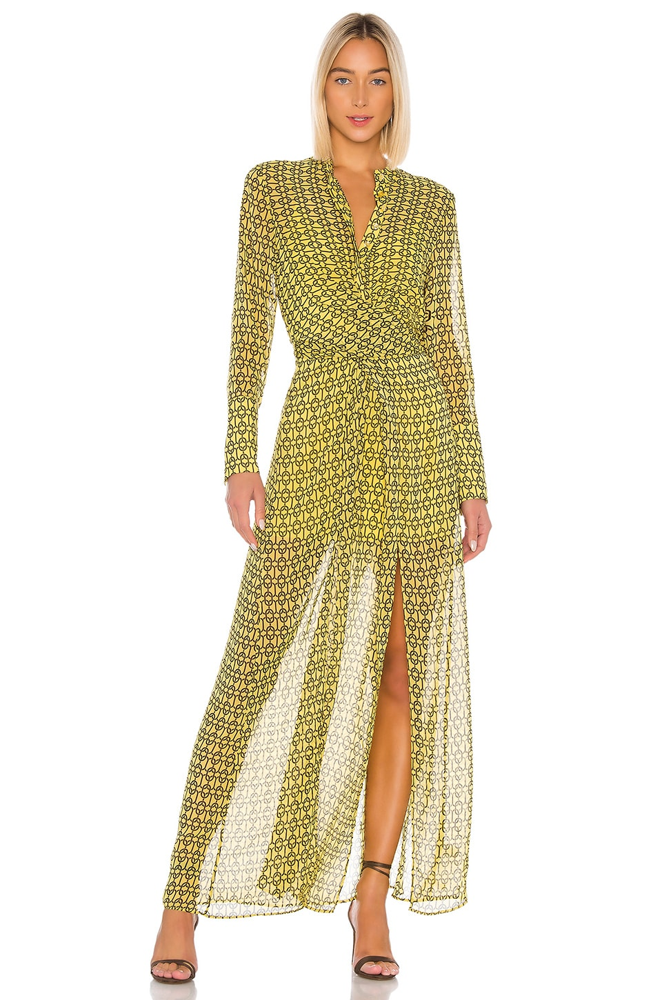 L'Academie The Lumiere Maxi Dress in Gold Chain