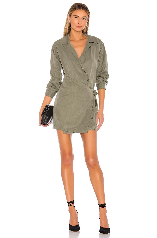 L'Academie The Mikayla Mini Dress in Olive Green