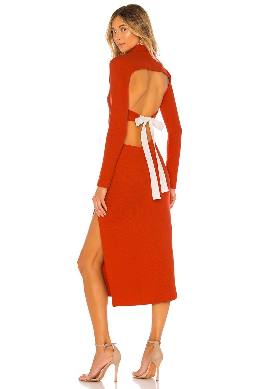 L'Academie The Alana Midi Dress in Red