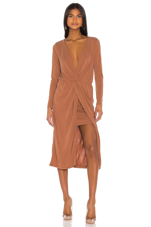 L'Academie The Judy Midi Dress in Terracotta